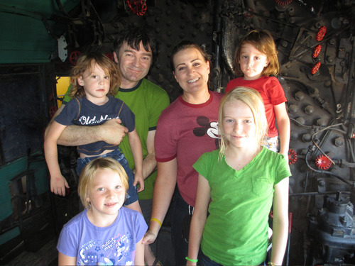 Saratoga Springs resident Meredith Greer with husband Ian and children Lily, 13, Lydia, 8 and 5-year-old Arik and Duncan.  Courtesy photo