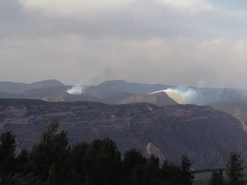 Several lightning caused wildfires broke out on the Dionsaur National Monument, along the Utah-Colorado border. (Dinosaur National Monument photo)