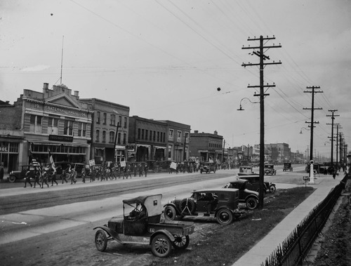 Tribune Archives Murray, Utah, Clean-Up Day Parade in 1927.