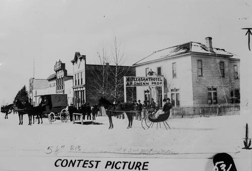 Tribune Archives Mt. Pleasant main street looking west, circa 1900.