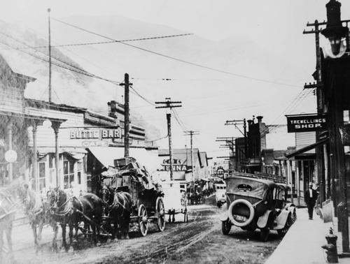 Tribune Archives Bingham, Utah, main street, early 1920s.