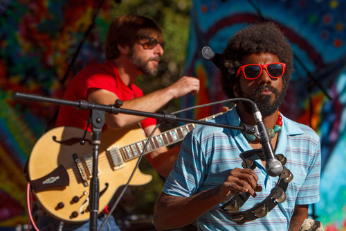 Trent Nelson  |  The Salt Lake Tribune The Heavy Guilt performs at the Roots of the Rocks Music Festival at the Eagle Point Ski Resort Saturday, June 15, 2013 east of Beaver.