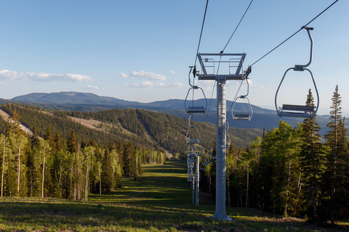 Trent Nelson  |  The Salt Lake Tribune The Eagle Point Ski Resort Saturday, June 15, 2013 east of Beaver.