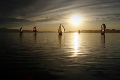 Rick Egan    The Salt Lake Tribune   Sailing on the Great Salt Lake, Wednesday, August 22, 2012.