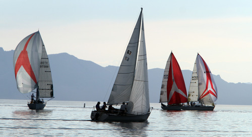 Rick Egan  |  The Salt Lake Tribune  Sailing on the Great Salt Lake, Wednesday, August 22, 2012.
