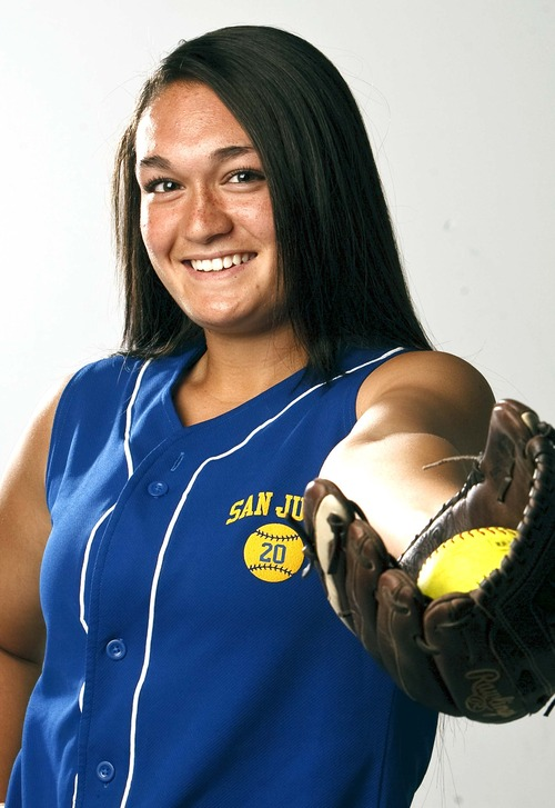 Leah Hogsten  |  The Salt Lake Tribune Tatiana Suesue, June 12, 2013. Salt Lake Tribune Softball MVP 2013