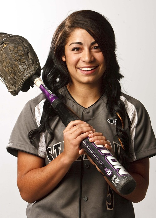 Leah Hogsten  |  The Salt Lake Tribune Janessa Bassett, June 12, 2013. Salt Lake Tribune Softball MVP 2013