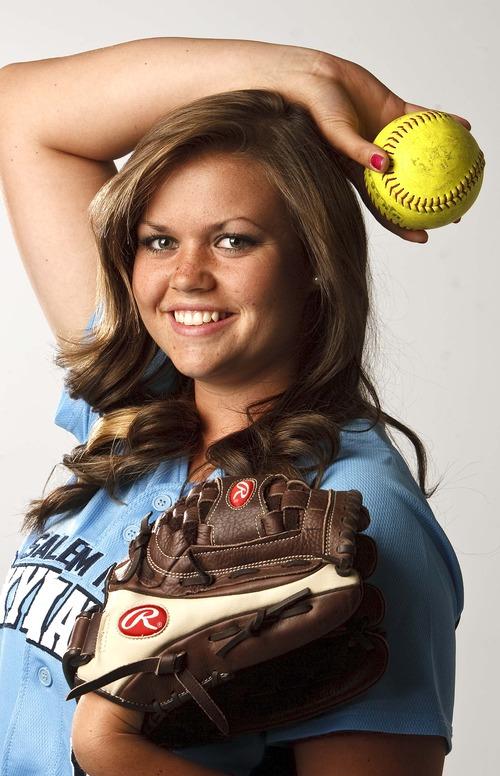 Leah Hogsten     The Salt Lake Tribune Kirtlyn Bohling, June 12, 2013. Salt Lake Tribune Softball MVP 2013