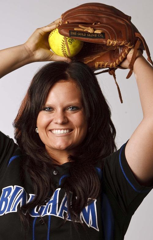 Leah Hogsten     The Salt Lake Tribune Paige Reimann, June 12, 2013. Salt Lake Tribune Softball MVP 2013