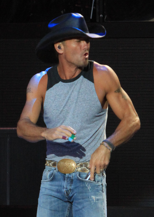 Rick Egan  | The Salt Lake Tribune   Tim McGraw performs at USANA,  Friday, June 14, 2013.