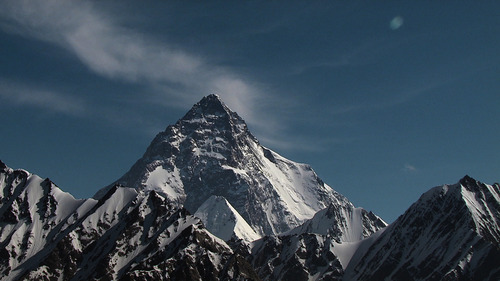 """Nick Ryan     courtesy Sundance Institute The mountain K2 in Pakistan, the setting for """"The Summit,"""" which will screen in the Sundance Institute Summer Series of outdoor film screenings in Salt Lake City and Park City."""