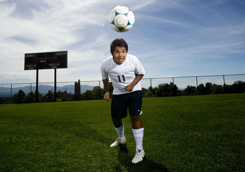 Kim Raff  |  The Salt Lake Tribune 2A boys soccer MVP Levi Lopez is photographed in Salt Lake City on June 7, 2013.
