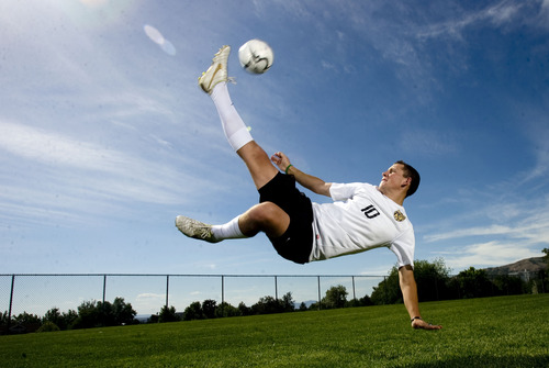 Kim Raff  |  The Salt Lake Tribune Boys soccer 3A MVP Ben Powell of Wasatch High School is photographed in Salt Lake City on June 7, 2013.