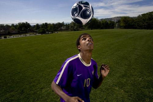 Kim Raff  |  The Salt Lake Tribune Boys soccer 5A MVP Gui Lemi of Lehi High School is photographed in Salt Lake City on June 7, 2013.