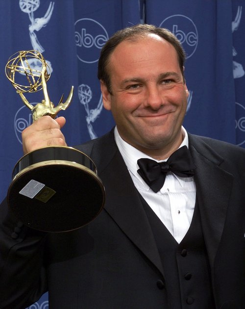 "FILE - This Sept. 10, 2000 file photo shows actor James Gandolfini with his award for outstanding lead in a drama series for his work in ""The Sopranos"" at the 52nd Annual Primetime Emmy Awards in Los Angeles. HBO and the managers for Gandolfini say the actor died Wednesday, June 19, 2013, in Italy. He was 51. (AP Photo/Kevork Djansezian, file)"