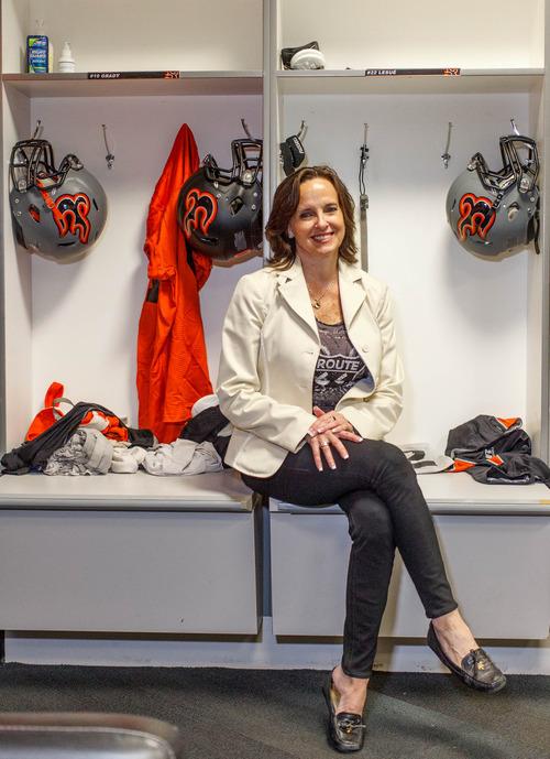 Trent Nelson  |  The Salt Lake Tribune Utah Blaze owner Kim Brown is a rare female majority owner of a professional sports franchise in North America. Wednesday June 12, 2013 in Salt Lake City.