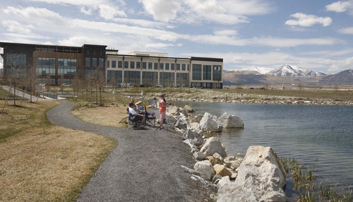 Paul Fraughton | The Salt Lake Tribune The publication cited Daybreak's fishing lake and Energy Star-certified homes as attractive for retirees.