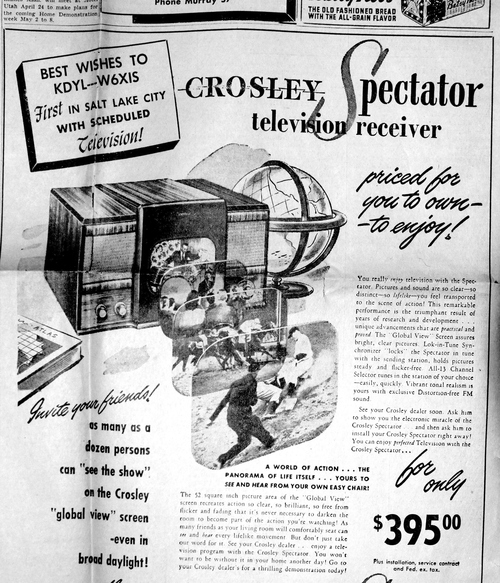 (Salt Lake Tribune archives)  A newspaper ad from 1947.