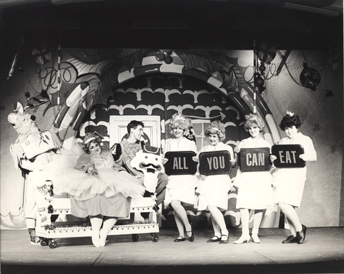 """A production still from Salt Lake Acting Company's 1985 version of """"Saturday's Voyeur,"""" then just eight years old. The home-grown stage satire of all things Utah will celebrate its 35th anniversary with a new production, playing June 26-Sept. 1. Credit: Courtesy Salt Lake Acting Company"""