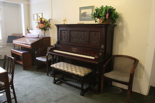 Rick Egan  | The Salt Lake Tribune   A Piano that was donated many years ago by one of it's residents is still played in the living room at the Sara Daft Home, an assisted living center on 1300 East in Salt Lake City, Monday, June 24, 2013. This year marks the100th anniversary of the Sara Daft Home.