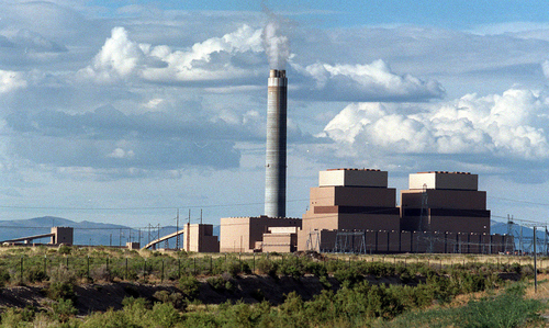 Tribune file photo Coal fired IPP smokestack and unit in the desert just north of Delta.