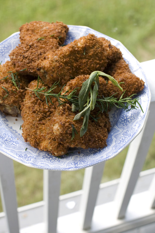 In this image taken on June 3, 2013, the best fried chicken you'll ever eat at home is shown served on a plate in Concord, N.H. (AP Photo/Matthew Mead)