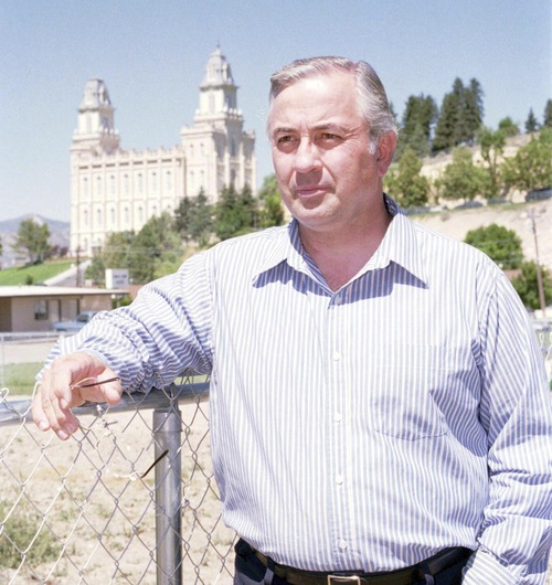 James Dee Harmston, seen here in this 1998 photo, died June 27, 2013, at age 72. Harmston led the polygamous The True and Living Church of Jesus Christ of Saints of The Last Days in Sanpete County. Salt Lake Tribune photo.