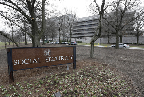 FILE - This Jan. 11, 2013 file photo shows the Social Security Administration's main campus in Woodlawn, Md. Just like other married couples, same-sex couples are about to find out that federal benefits for being married might not be all they're cracked up to be.  Social Security benefits for spouses can be generous, but only for couples with big disparities in their incomes. Taxes are a decidedly mixed bag, and there still a lot of unanswered questions for the Internal Revenue to address.  (AP Photo/Patrick Semansky, File)
