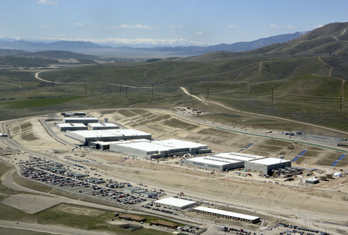 Francisco Kjolseth | The Salt Lake Tribune  An aerial view of the NSA's Utah Data Center in Bluffdale, Utah, Thursday, April 18, 2013. T