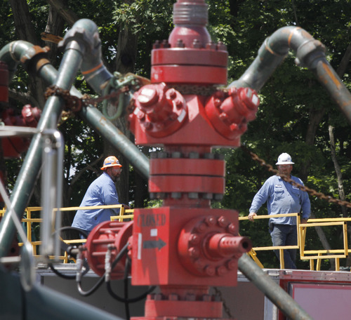 (AP Photo/Keith Srakocic, File) Natural gas production has increased dramatically in Utah and other states in recent years.