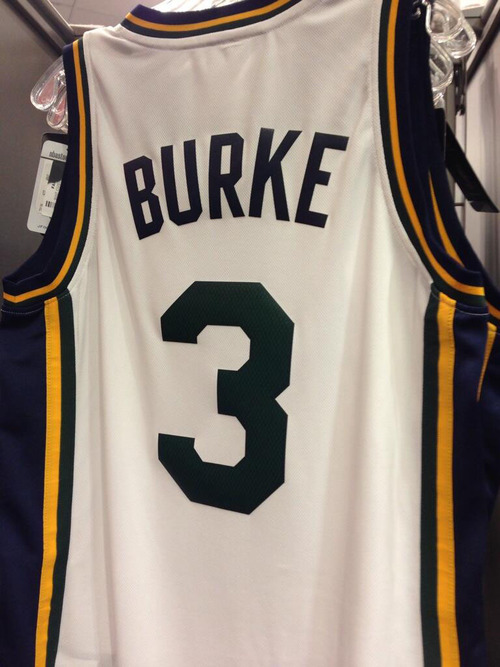 Courtesy photo According to Twitter user Cam Morgan (@Nike_Cam01), this Trey Burke jersey was for sale at the Fanzz store at Fashion Place Mall in Murray. Burke, a Jazz rookie, has expressed a desire to wear No. 3, but that number belongs to free agent small forward DeMarre Carroll. Late Monday Fanzz stores were told to stop selling the jerseys.