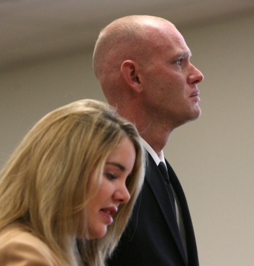 Steve Griffin | Tribune file photo Eric Charlton, who pled guilty to accidentally fatally shooting his brother in the head during a camping trip, stands with his attorney Susanne Gustin, as he listens to the court during his sentencing hearing in 4th District Court in Nephi, Utah Thursday December 20, 2012.