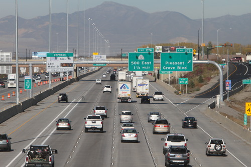 Rick Egan  | Tribune file photo  I-15 in Utah County on Friday, November 2, 2012.