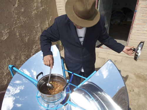 Courtesy photo Scot Frank, a West High grad who grew up in Holladay, developed a solar stove with the help of Himalayan villagers. Now his team is making it available in the developed world for home barbecues, back country campouts and disaster-relief kits.