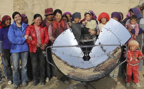 | Courtesy Scot Frank, a West High grad who grew up in Holladay, developed a solar stove with the help of Himalayan villagers. Now his team is making it available in the developed world for home barbecues, back country campouts and disaster-relief kits