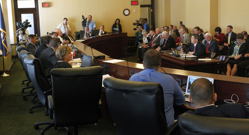 Al Hartmann  |  The Salt Lake Tribune House Rules Committee meets Wednesday, July 3, to discuss HR 9001, which would create a special committee to explore allegations of misconduct against Attorney General John Swallow.