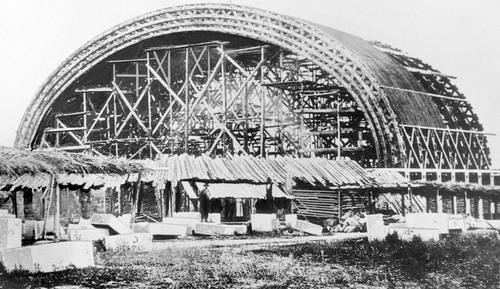 (Salt Lake Tribune archive)  The Salt Lake Tabernacle construction was completed in 1867.