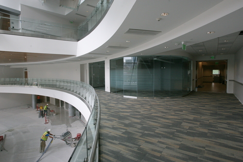 Rick Egan  | The Salt Lake Tribune   The second floor of the new Salt Lake Police and Public Safety building, Wednesday, June 12, 2013.
