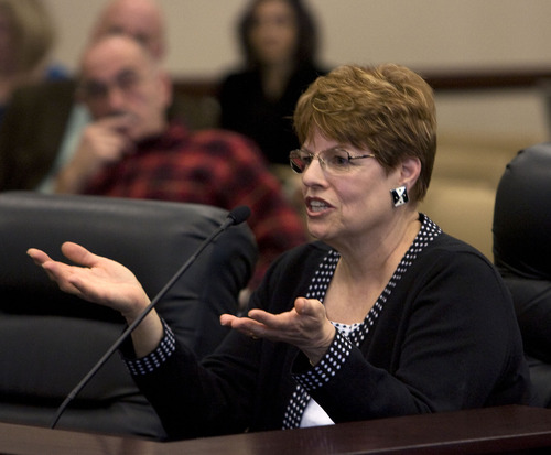 Tribune file photo Citizen watchdog Claire Geddes is outraged that amid a number of questions about Utah's transit agency -- including talk of a possible sales tax increase -- it's top executives are drawing hefty bonus checks.