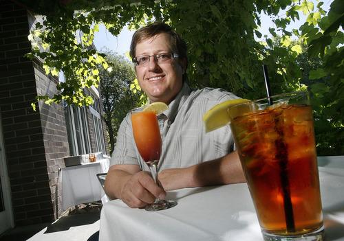 Scott Sommerdorf      The Salt Lake Tribune Owner Troy Greenhawt at Wild Grape Bistro, Thursday, June 27, 2013.