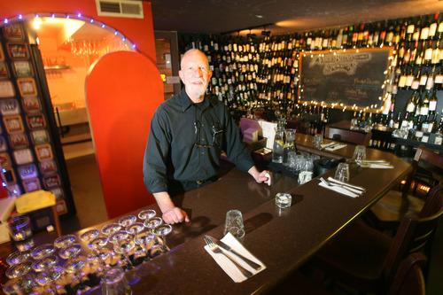 Steve Griffin   The Salt Lake Tribune  Bartender, Bob Leavitt, at the Speakeasy in the basement of Avenues Bistro on Third, in Salt Lake City, Utah Tuesday March 5, 2013.