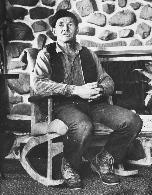 Tribune file photo  John Singer, then 48, sitting in his home in Marion, Utah, in the fall of 1978.