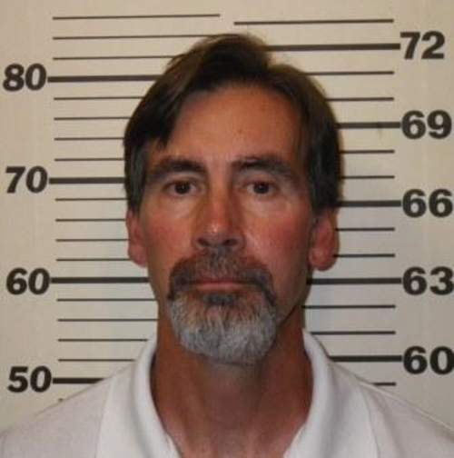 This photo provided by Utah Department of Corrections shows Addam Swapp.  Swapp, the man who bombed a Mormon church building and sparked a 13-day standoff in 1988 that left a corrections officer dead at a polygamist compound, was released from prison on Tuesday, July 9, 2013,  after more than 25 years behind bars.  Swapp, 52, was accompanied by family members as he left Sanpete County Jail three months after members of the state board of pardons and parole approved his release, saying he had shown remorse for leading the standoff in Marion.  (AP Photo/Utah Department of Corrections)