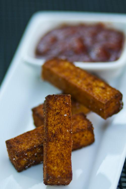 Chris Detrick  |  The Salt Lake Tribune Polenta Fries served with house-made tamarind ketchup ($4) at Cucina Deli, 1026 2nd Ave in Salt Lake City, Friday July 5, 2013.