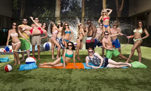 """The 16 contestants on the current season of """"Big Brother"""" pose in the backyard of the """"Big Brother"""" house. Courtesy photo"""