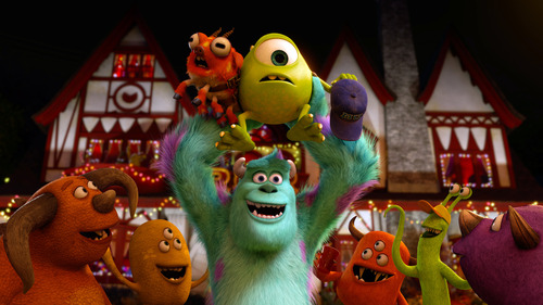 """This film publicity image released by Disney-Pixar shows a scene from """"Monsters University."""" (AP Photo/Disney-Pixar)"""