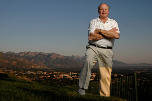 Larry H. Miller, photographed in 2005 overlooking the Salt Lake Valley.        Francisco Kjolseth/Tribune file photo