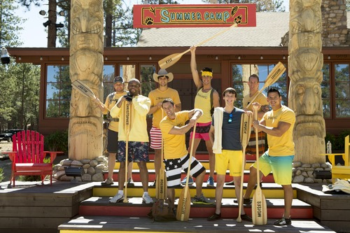 "Justin Jackson, Christopher Grant, Cameron Tylor Harper, Mikey Benzaia, Kyle Kleiboeker, Chuck Lines, Mike Ward, Moises Ramos are the male contestants on ""Summer Camp. Courtesy photo"