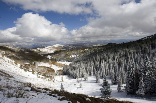 Keith Johnson | The Salt Lake Tribune  View from Guardsman's Pass looking west above Brighton Ski Resort in Big Cottonwood Canyon.