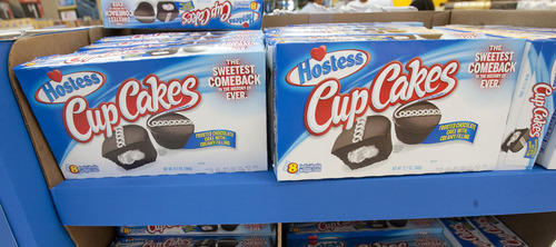 Steve Griffin | The Salt Lake Tribune  Hostess Twinkies, donettes and Cup Cakes were back in Walmart stores in Salt Lake City on Friday, July 12, 2013.